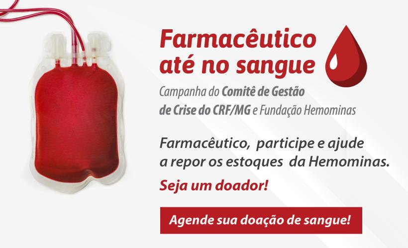 Comitê de Gestão de Crise do CRF/MG lança campanha para doar sangue a Hemominas